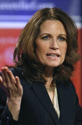 In this Jan. 21, 2011 file photo, Rep. Michele Bachmann, R-Minn. speaks in Des Moines, Iowa.