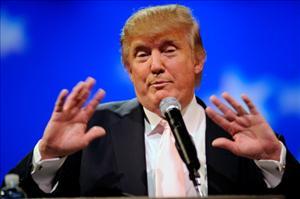 Donald Trump speaks in Las Vegas in April.