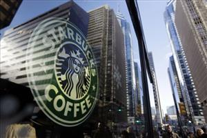 In this photo take Dec. 3, 2010, a Starbucks logo is displayed.