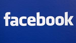 The Facebook logo is displayed at a news conference in New York in this November 6, 2007 file photo.