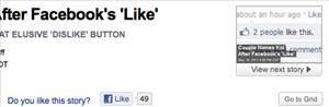 The Facebook 'Like' button ... as it appears on a Newser story about a couple who named their child after it. How meta.
