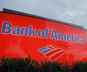 In this April 21, 2008 file photo, a sign for a Bank of America branch is shown in Charlotte, N.C.