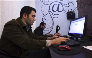Iranian journalism students work at an Internet cafe in Tehran on Jan. 18, 2011.