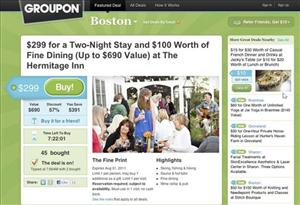 This screenshot courtesy of Groupon.com shows the site.
