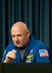 US space shuttle Endeavour Commander Mark Kelly sent a message from space to his wife, Gabrielle Giffords, during a recent U2 concert.