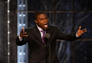 Tracy Morgan speaks at the First Annual Comedy Awards at Hammerstein Ballroom on March 26 in New York City.