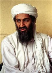 This April 1998 file photo shows Osama bin Laden in Afghanistan.