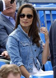 Pippa Middleton, sister of Kate, Duchess of Cambridge, is seen in the audience at the Queen's Grass Court Championship in London, Thursday, June 9, 2011.