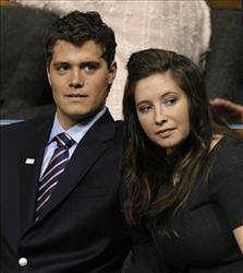 A 2008 file photo of Levi Johnston and Bristol Palin.