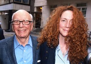 Rupert Murdoch and Rebekah Brooks were all smiles in London last weekend.