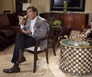 Steve Wynn answers questions about his upcoming wedding to Andrea Hissom, Wednesday, April 27, 2011, in Las Vegas.