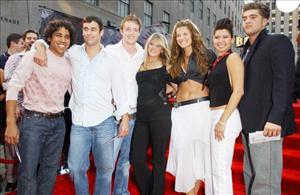 The Cast from Real World - Paris arrive to the 2003 MTV Video Music Awards at Radio City Music Hall on August 28, 2003 in New York City.