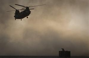 File photo of a US Chinook helicopter in Afghanistan.