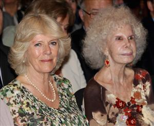 Camilla, Duchess of Cornwall and the Duchess of Alba watch a flamenco performance at the Flamenco Museum on April 1, 2011 in Madrid, Spain.