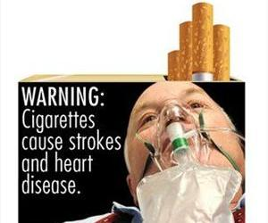 This file image provided by the U.S. Food and Drug Administration on June 21, 2011 shows one of nine new warning labels cigarette makers will have to use by the fall of 2012.