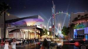 In this publicity image provided by Caesars Entertainment Corp. shows an artist's rendering of the $550 million Linq project in Las Vegas, to be topped by a 550-foot Ferris wheel.