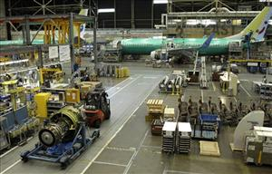 In this May 17, 2011 photo, a Boeing Co. assembly facility is shown in Renton, Wash.