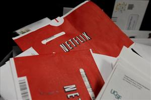 Netflix envelopes in the mail.