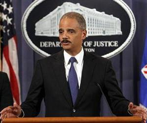 Attorney General Eric Holder speaks about Medicare fraud enforcement at the Justice Department in Washington, Wednesday, Sept. 7, 2011.