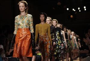 The Proenza Schouler Spring 2012 collection is modeled Wednesday, Sept. 14, 2011 during Fashion Week in New York.