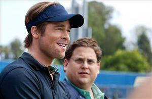 In this image released by Sony Pictures, Brad Pitt, left, and Jonah Hill are shown in a scene from Moneyball.