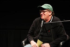 Filmmaker Michael Moore in a 2010 file photo.