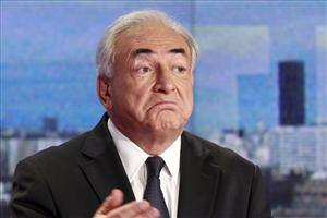 Dominique Strauss-Kahn, former head of the IMF, appears in a TV interview in France last week.