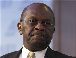 Republican presidential candidate, Herman Cain answers question on his tax plan at the American Enterprise Institute for Public Policy Research (AEI) in Washington, Monday, Oct., 31, 2011.
