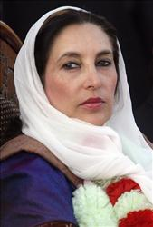 Benazir Bhutto in December 2007.