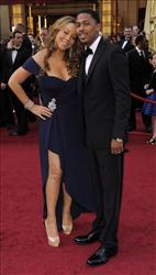 Mariah Carey and husband Nick Cannon the 82nd Academy Awards Sunday,  March 7, 2010, in the Hollywood section of Los Angeles.