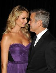 Stacy Keibler and George Clooney attend the 15th Annual Hollywood Film Awards Gala Presented By Starz held at The Beverly Hilton Hotel on October 24, 2011 in Beverly Hills, California.