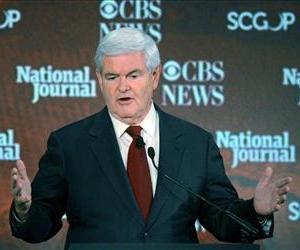 In this Nov. 12, 2011, photo, Republican presidential candidate former House Speaker Newt Gingrich, speaks at a debate in Spartanburg, S.C.