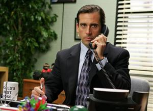 FILE - In this undated publicity photo released by NBC, actor Steve Carell appears in this scene from the television series The Office.