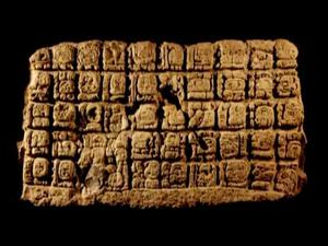 Mayan hieroglyphs, but not the ones read by Sven Gronemeyer.
