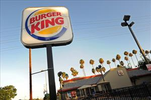 A Burger King sign outside a restaurant in Glendale, California, on September 2, 2010.