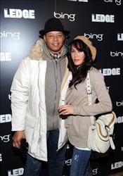Terrence Howard (L) and wife Michelle Ghent attend 'The Ledge' Cocktail Party At Bing Bar on January 21, 2011 in Park City, Utah.