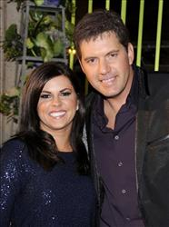 In this Nov. 8, 2011, file photo, Rodney Atkins, right, and his wife, Tammy Jo, arrive at the 59th Annual BMI Country Awards in Nashville.