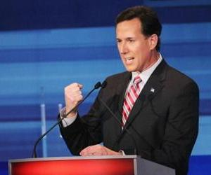 Rick Santorum fields a question during the Fox News Channel debate at the Sioux City Convention Center on December 15, 2011 in Sioux City, Iowa.