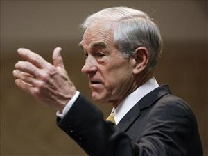 Ron Paul speaks during a campaign stop in Fort Madison, Iowa, earlier this week.