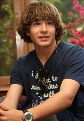 US teenager Jordan Romero is interviewed in Kathmandu on April 11, 2010 in preparation to climb Mount Everest.