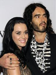 In this Jan. 30, 2010 photo, Katy Perry and Russell Brand arrive at the annual Pre-GRAMMY Gala presented by The Recording Academy and Clive Davis at The Beverly Hilton Hotel in Beverly, Hills, Calif.