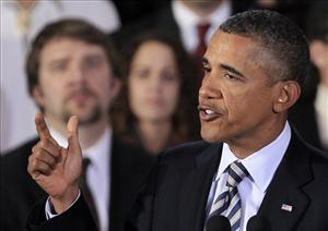 President Obama speaks about the economy, Wednesday at Shaker Heights High School in Ohio.