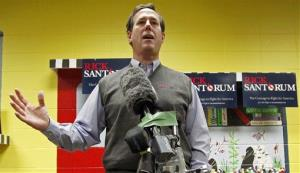 Rick Santorum speaks during a campaign appearance at the Indianola Public Library in Iowa last week.