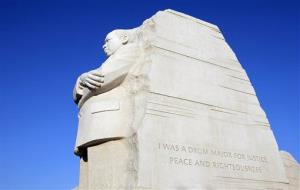 An inscription on the Martin Luther King Jr. Memorial isn't quite right.