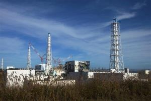 This Nov. 12 photo shows a view of the crippled Fukushima Dai-ichi nuclear power plant in Okuma town, Japan.