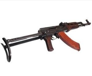 An AK-47 is seen in this stock photo.