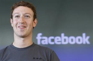 Facebook CEO Mark Zuckerberg smiles during a meeting in San Francisco.