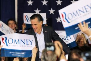 Mitt Romney greets supporters during a Grassroots Rally at The Grove on February 2, 2012 in Reno, Nevada.