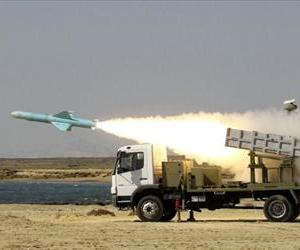 Iranian short-range Nasr missile is launched on the last day of navy war games near the Strait of Hormuz in southern Iran on January 2, 2012.