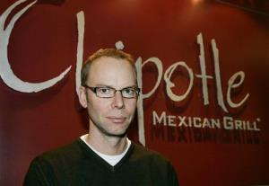 In this2006 file photo, Steve Ells, the founder and CEO of Chipotle Mexican Grill, poses for a photograph at the company's headquarters in Denver.